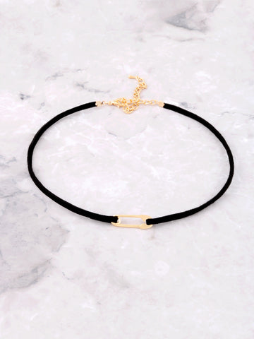 Safety Pin Choker Anarchy Street Gold