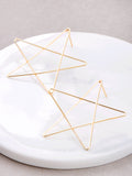 Drawn Star Stud Earrings Anarchy Street Gold