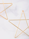 Drawn Star Stud Earrings Anarchy Street Gold - Details