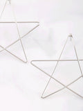 Drawn Star Stud Earrings Anarchy Street Silver - Details