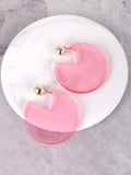 Acrylic Cutout Earrings Anarchy Street Pink