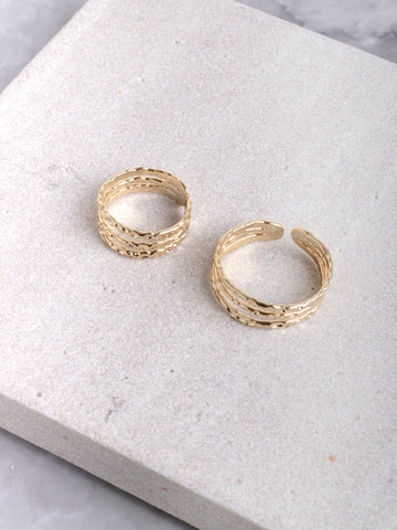 Textured Ring Set Anarchy Street Gold