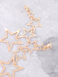 Cascading Stars Dangle Earrings Anarchy Street Gold - Details