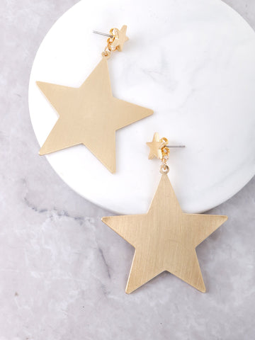 Matte Star Earrings Anarchy Street Gold