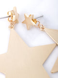 Matte Star Earrings Anarchy Street Gold - Details