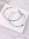 Acrylic Hoop Earrings Anarchy Street Blue