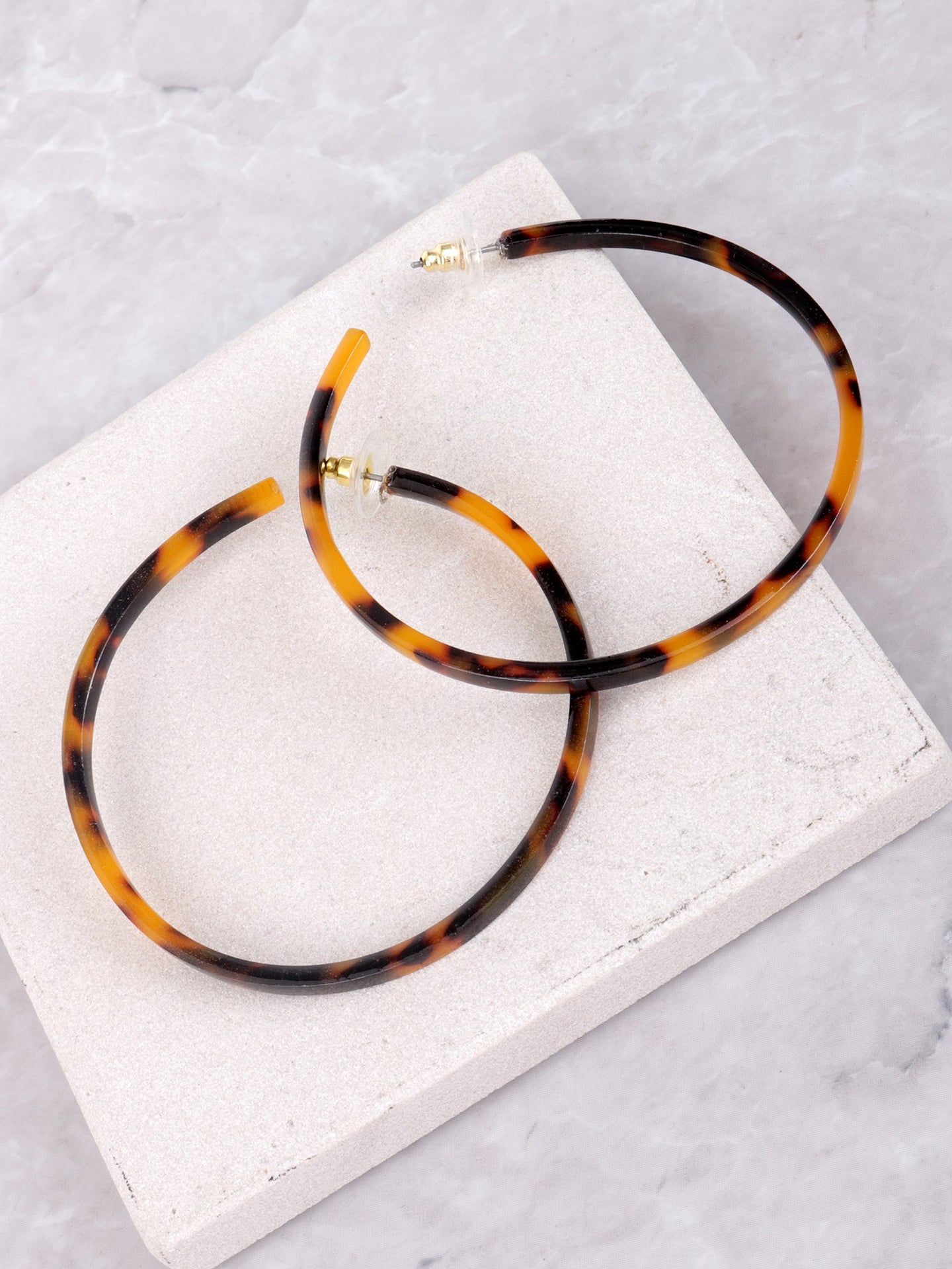 Acrylic Hoop Earrings Anarchy Street Brown