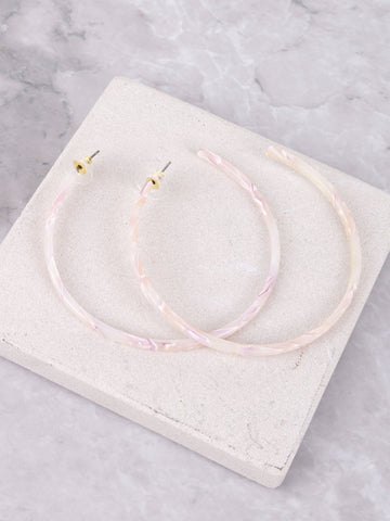 Acrylic Hoop Earrings Anarchy Street Pink