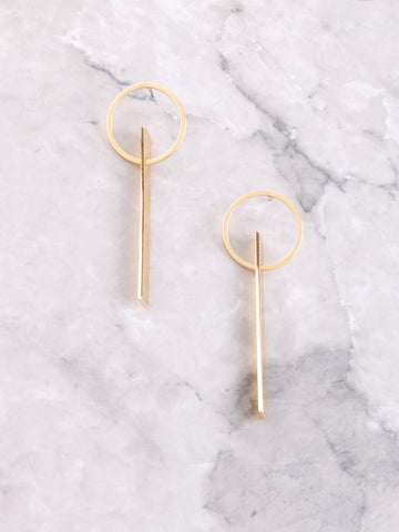 Flat Bar Loop Earring Anarchy Street Gold