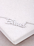 Blessed Script Necklace