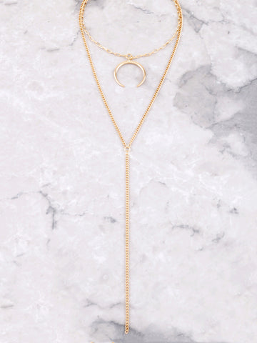 Crescent Horn Layered Choker Anarchy Street Gold