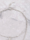 Crescent Horn Layered Choker Anarchy Street Silver - Details