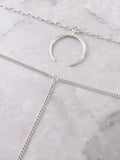 Crescent Horn Layered Choker Anarchy Street Silver - Details 1