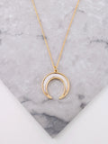 Pearl Horn Layered Necklace Anarchy Street Gold - Details 1