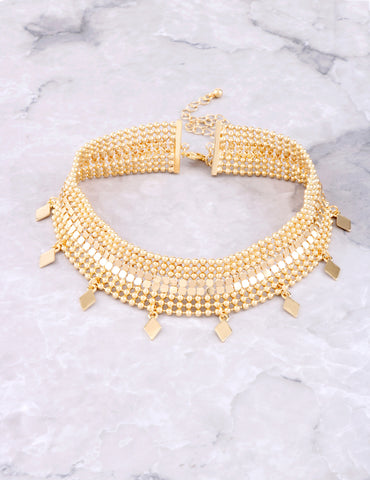 Metal Mesh Choker Anarchy Street Gold