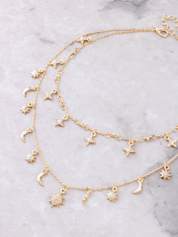 Constellation Layered Choker Anarchy Street Gold