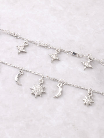 Constellation Layered Choker Anarchy Street Silver - Details
