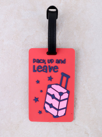 Pack Up And Leave Luggage Tag Anarchy Street Red