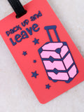 Pack Up And Leave Luggage Tag Anarchy Street Red - Details