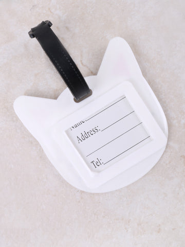 Face Cat Luggage Tag Anarchy Street White - Details