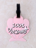 100% Mermaid Luggage Tag Anarchy Street Pink