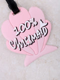100% Mermaid Luggage Tag Anarchy Street Pink - Details
