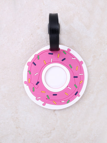 Donuts Luggage Tag Anarchy Street Pink