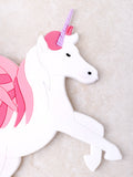 Unicorn Luggage Tag Anarchy Street Pink - Details