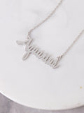 Flat Zodiac Sign Necklace