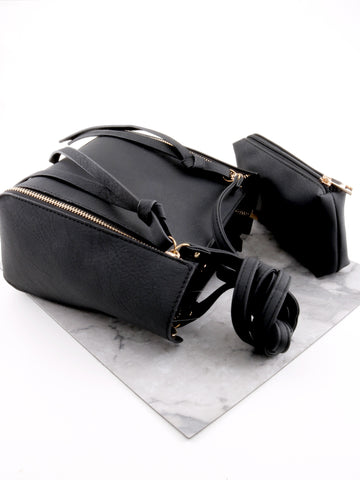 Vegan Leather Side Bag Anarchy Street Black - Details