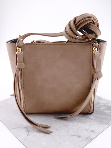 Vegan Leather Side Bag Anarchy Street Khaki