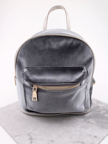 Velvet Mini Backpack Anarchy Street Gray