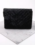 Quilted Velvet Bag Anarchy Street Black