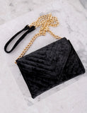 Quilted Velvet Bag Anarchy Street Black - Details