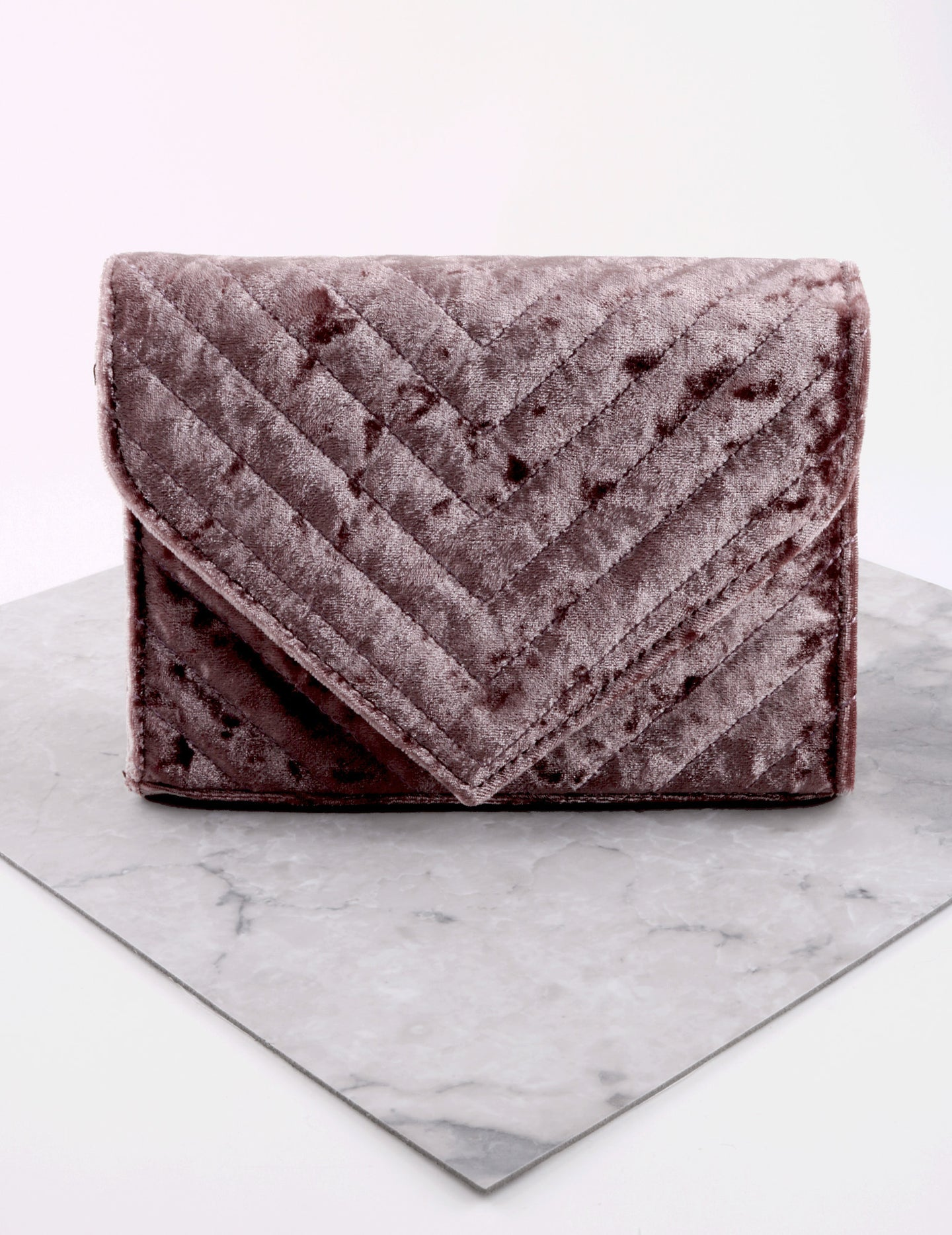 Quilted Velvet Bag Anarchy Street Purple