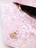 Velvet Clutch Bag Anarchy Street Pink - 4 Details
