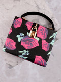 Floral Printed Secret Bag Anarchy Street Black