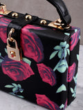 Floral Printed Secret Bag Anarchy Street Black - Details