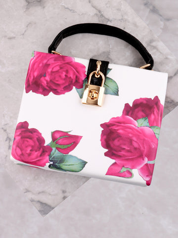 Floral Printed Secret Bag Anarchy Street White