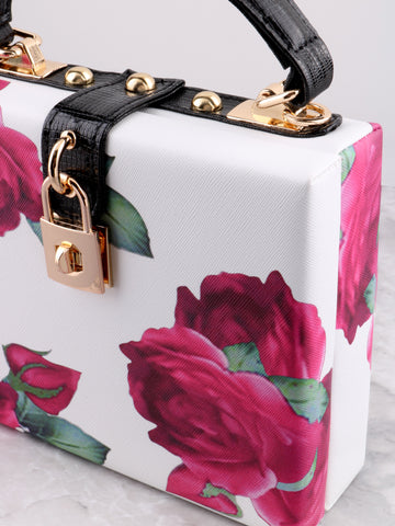 Floral Printed Secret Bag Anarchy Street White - Details