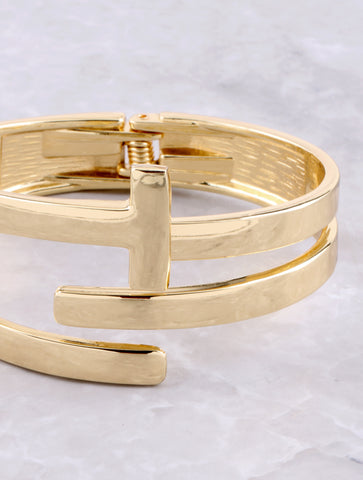 In Between Cuff Bracelet Anarchy Street Gold - Details