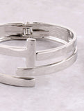 In Between Cuff Bracelet Anarchy Street Silver - Details