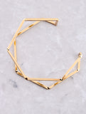 Hexagon Cuff Bracelet Anarchy Street Gold