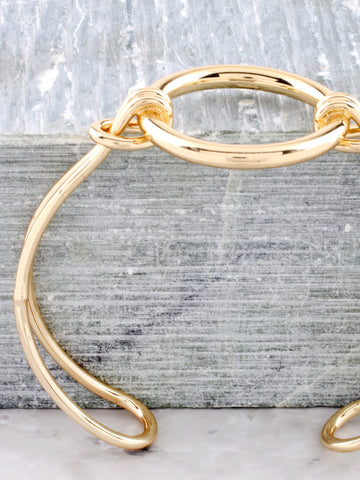 Latched Circle Bracelet Anarchy Street Gold - Details