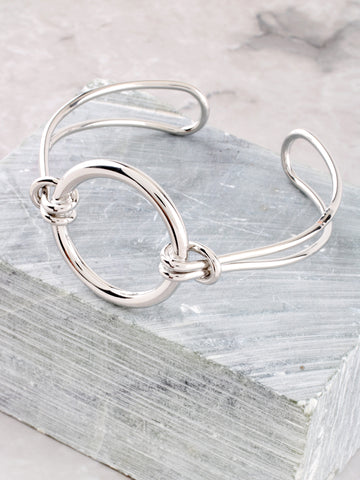 Latched Circle Bracelet Anarchy Street Silver