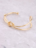 Tied Up Cuff Bracelet Anarchy Street Gold