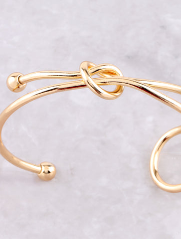 Tied Up Cuff Bracelet Anarchy Street Gold - Details