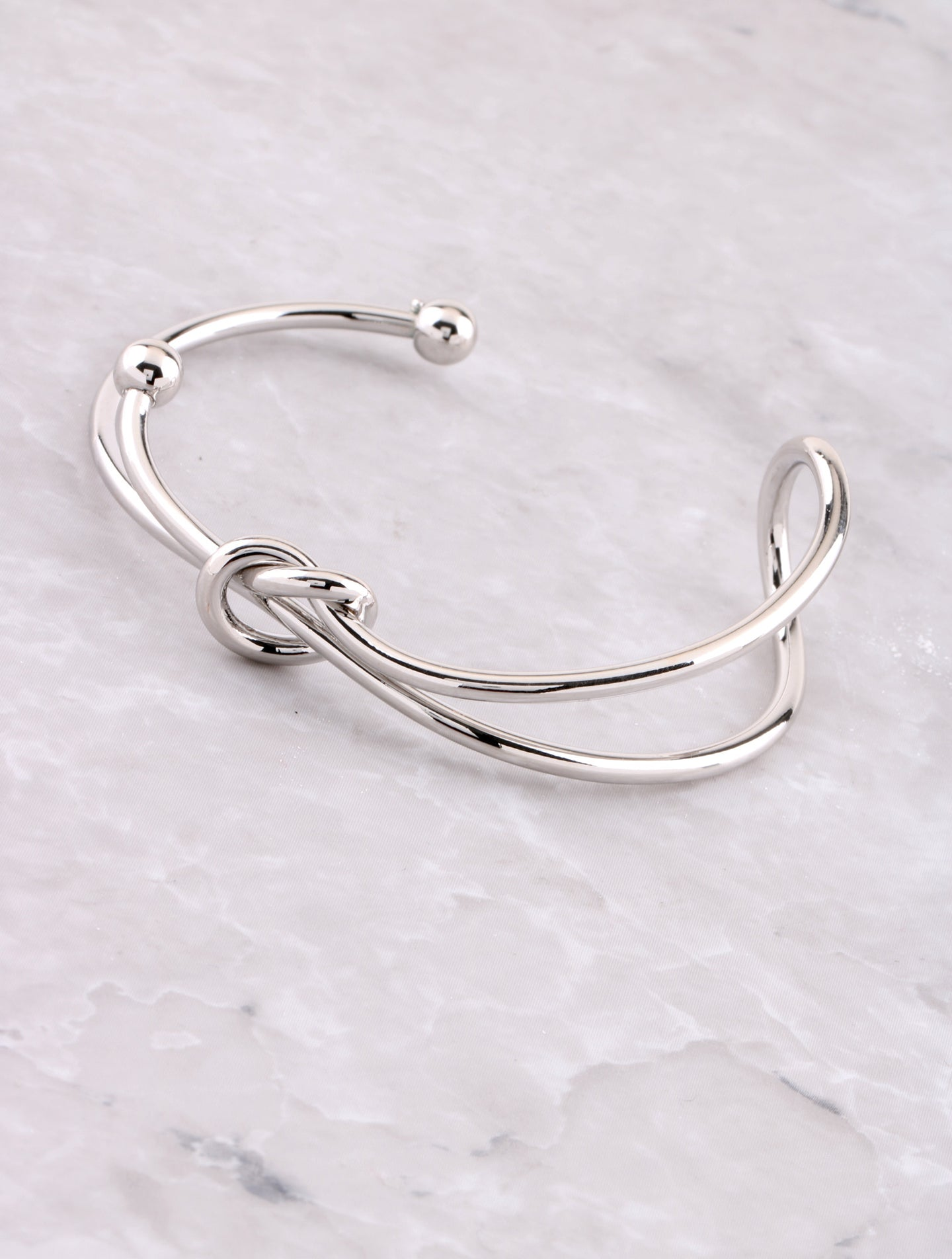 Tied Up Cuff Bracelet Anarchy Street Silver