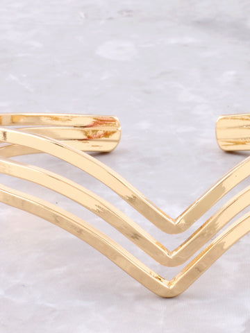 Triple Dipped Cuff Bracelet Anarchy Street Gold - Details