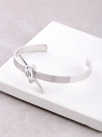 Knot Up Cuff Bracelet Anarchy Street Silver